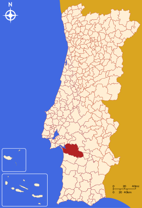 Map of Alcacer sal